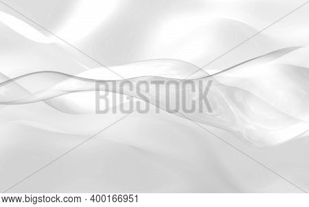 Abstract White Background. Beautiful Backdrop With White Waves. 3d Illustration.
