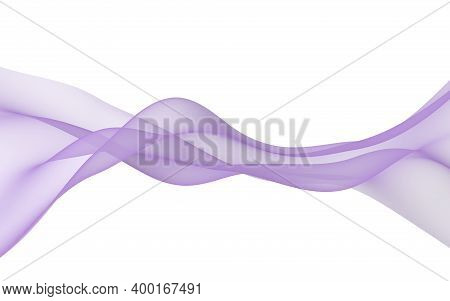 Abstract Wave. Scarf. Bright Ribbon On White Background. Abstract Smoke. Raster Air Background. 3d I