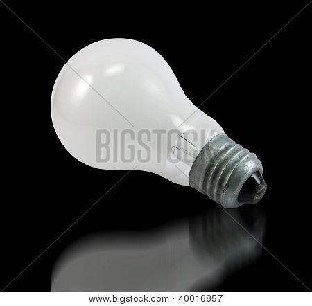 Incandescent Bulb On Black