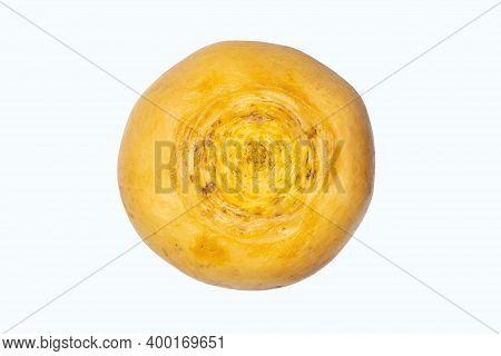 Turnip Yellow Isolated On A White Background.sweet Turnip Studio Photo.russian Turnip On A White Bac