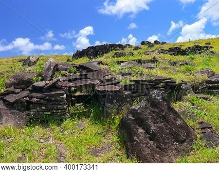 Tachyllite Tuff Stones, The Material From Which The Statues Of Easter Island Were Made.