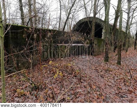 Old tunnel of Stalin. Part of Kiev defense line in WW2 time.