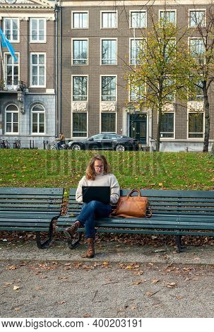 The Hague, November 10 The Hague, The Netherlands Young Woman Wo
