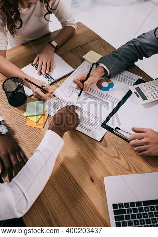Business Background. Business People Discussing Together Their Strategy. Making Business Plan, Busin