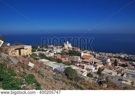 Algeria City, Algeria - 01 Nov 2014: View On Basilique Notre Dame Dafrique, Algeria