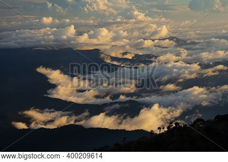 View From Top Of Mount Kinabalu, Highest Mountain At South East Asia - Sabah, Malaysia