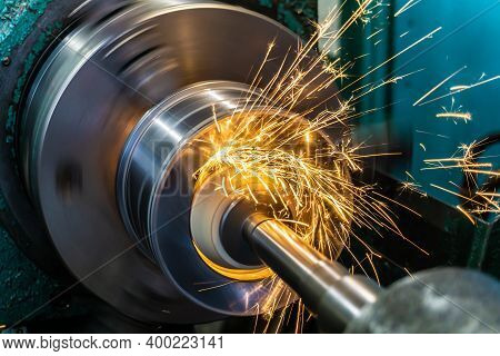 Internal Grinding Of A Part With A Face Abrasive Wheel On A Circular Grinding Machine.
