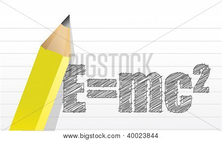 E=mc2 Illustration Design