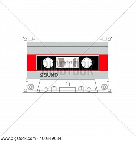 An Old Styled Cassette, Side A , Side B Red White