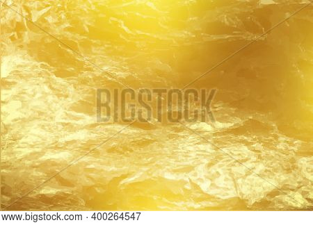 Gold Foil Texture. Shiny Gold Texture Foil, Paper Or Metal. Vector Golden Background