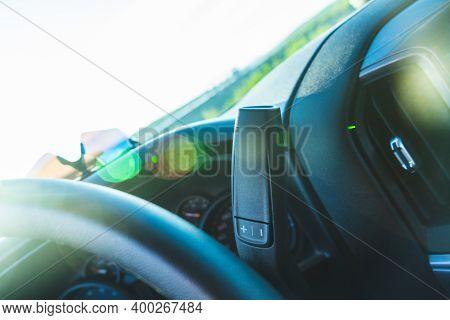 Interior Of A New Truck, Bokeh Artsy Art Dreamy Blur Sunny Day Sun Reflects