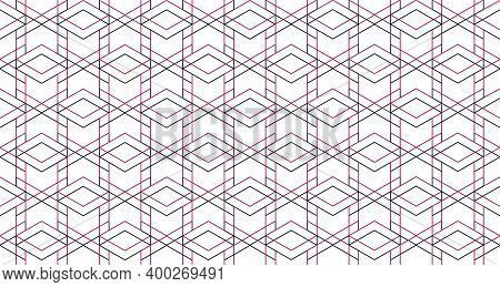 Abstract Geometric Pattern. Seamless Doted Line Backdrop. White And Black Ornament. Graphic Modern P
