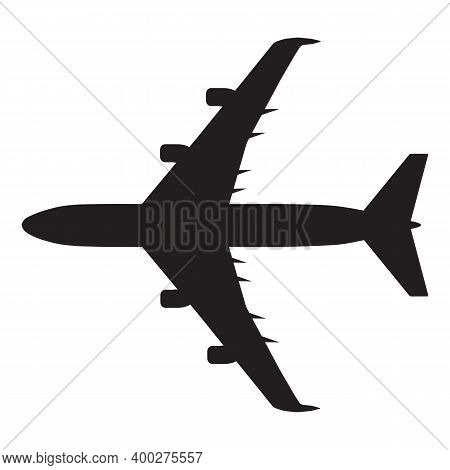 Aeroplane Icon Isolated On White Background From Artificial Intelligence Collection. Aeroplane Icon