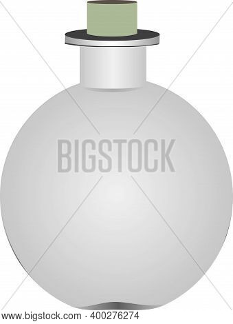 Spherical Frosted Glass Bottle With Tight-fitting Lid