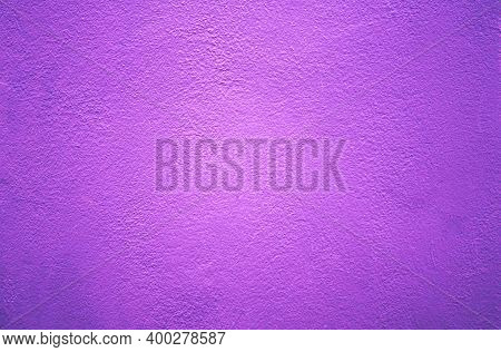 Purple Wall Background And Texture. Purple Background. Purple Cement Or Concrete Wall Texture For Ba