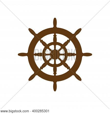 Helm Wheel Icon Design Template Vector Isolated Illustration