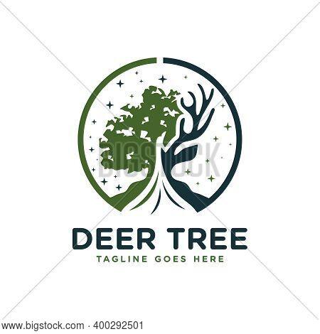 Deer Wood Forest Logo Design Or Brand