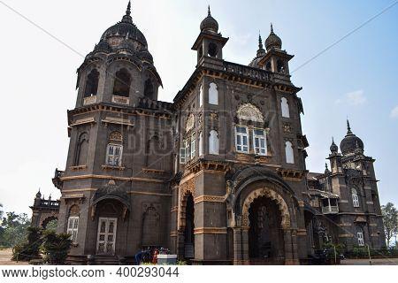 Kolhapur, Maharashtra, India- December 5th 2019;picture Of Popular Palace In Kolhapur City New Palac