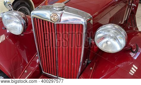 Bordeaux , Aquitaine  France - 12 15 2020 : Mg A Sports Manufacturer Logo And Sign Text Badge On A V