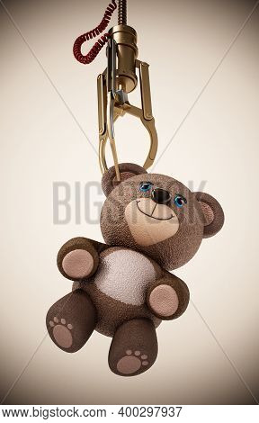 Toy Claw Machine Isolated On White Background. 3d Illustration.