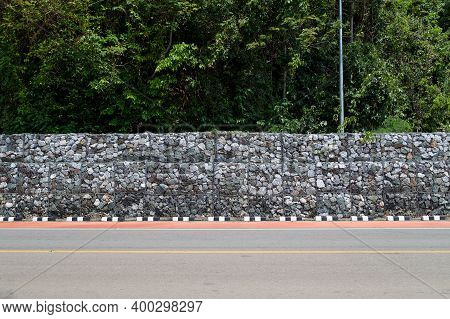Retaining Wall, Rock Wall, Landslide Prevention Fence, Landslide Protection Along The Roadside.