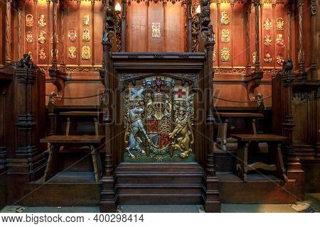 Edinburgh, Great Britain - September 10, 2014: This Is The Seat Of The British Monarch With The Engl