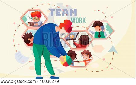 Meeting Business People, Online Conference. Teamwork, Discussion Of The Company S Business Strategy.