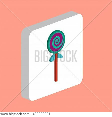 Lollipop Simple Vector Icon. Illustration Symbol Design Template For Web Mobile Ui Element. Perfect