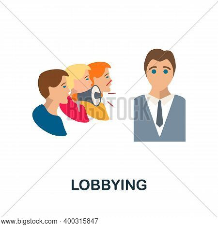 Lobbying Flat Icon. Color Simple Element From Activism Collection. Creative Lobbying Icon For Web De