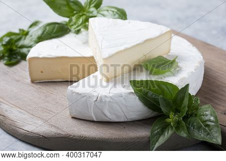 Brie Cheese, Camembert Cheese  With Herbs. Brie Cheese. Camembert Cheese. Fresh Brie Cheese With Her