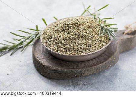 Dried Rosemary  On White Background. Dried Rosemary