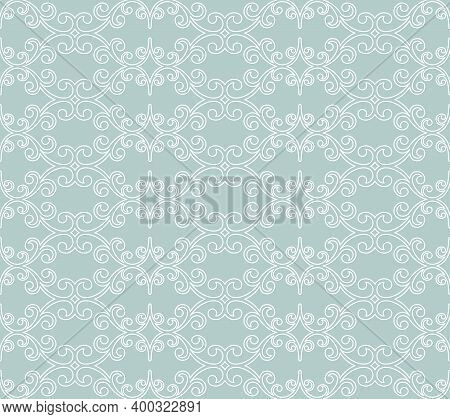 Classic Seamless Blue And White Pattern. Damask Orient Ornament. Classic Vintage Background. Orient