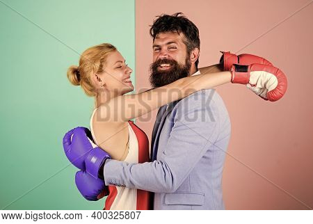 Family Life. Boxers Fighting Gloves. Man And Woman Boxing Fight. Complicated Relationships. Couple R