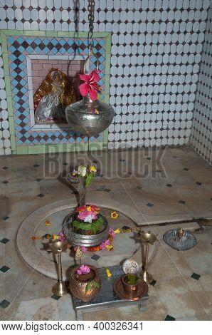 Inside Of A Hindu Temple. Gujarat. India.