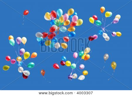 Balloons Isolated On Blue