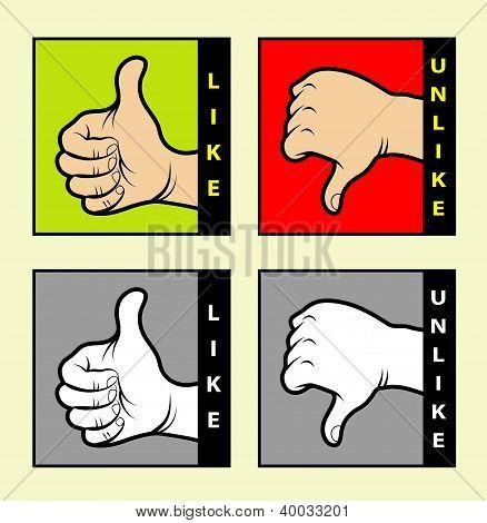 Monochrome & color hand signs