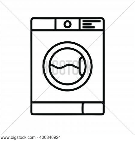 Washing Machine Icon Isolated On White Background From Miscellaneous Collection. Washing Machine Ico