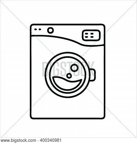 Washing Machine Icon Isolated On White Background. Washing Machine Icon Trendy And Modern Washing Ma