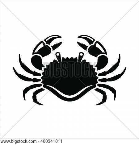 A Crab Icon On A White Background. Crab Logo.