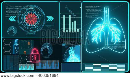 Futuristic Technology  Research And Digital Processing Data Information With Graph For Analysis Vacc