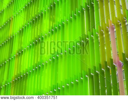 Pattern Acrylic Plastic Sheet Interior Two Tone Green And Light Green