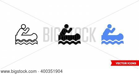 Map Symbol Canoe Access Icon Of 3 Types Color, Black And White, Outline. Isolated Vector Sign Symbol
