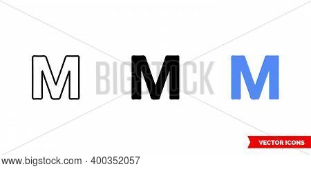 Map Symbol Motel Icon Of 3 Types Color, Black And White, Outline. Isolated Vector Sign Symbol.