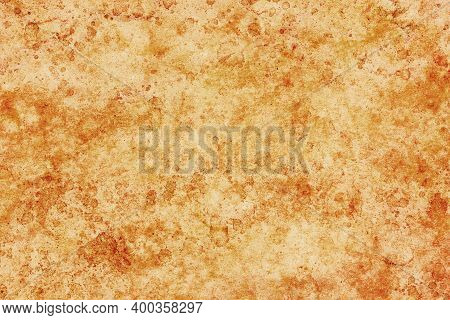 Parchment Paper Background. Coffee Stains Background. Brown Splash Texture. Burned Letter Structure.
