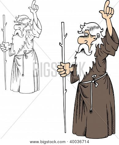 Prophet with stick