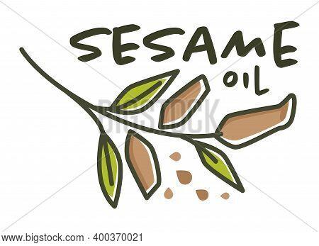 Sesame Oil, Natural And Organic Ingredient Label