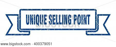 Unique Selling Point Ribbon. Unique Selling Point Grunge Band Sign. Unique Selling Point Banner