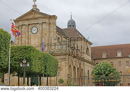 Exterior Of Notre Dame Church In Autun, France