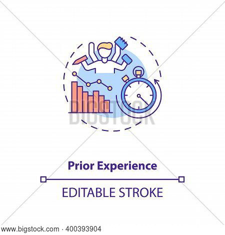 Prior Experience Concept Icon. Human Factor In Ergonomics Idea Thin Line Illustration. Performance O