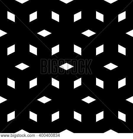 Geometric Background. Seamless Ornament. Rhombuses Pattern. Diamonds Backdrop. Lozenges Wallpaper. E
